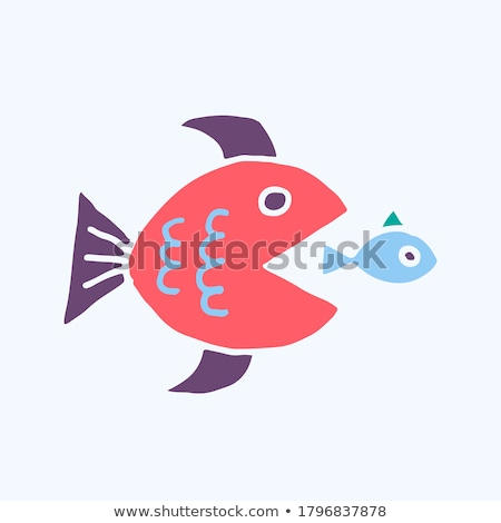 Grand poissons faible une image craie Photo stock © ivelin