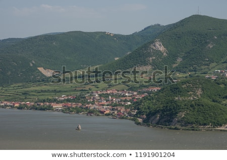 Baba Caia rock in Danube Stock photo © igabriela