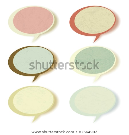 Shiny vector bubbles for speech. EPS 8 Stock photo © beholdereye