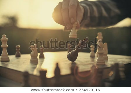 Boy playing chess Stock photo © vrvalerian