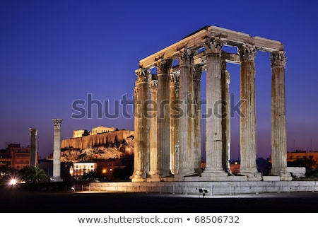 Temple Of Zeus At Night stock photo © searagen