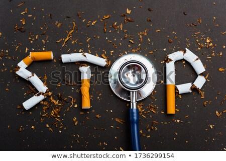 Cigarros ortografia não fumador pare ruim Foto stock © leeser
