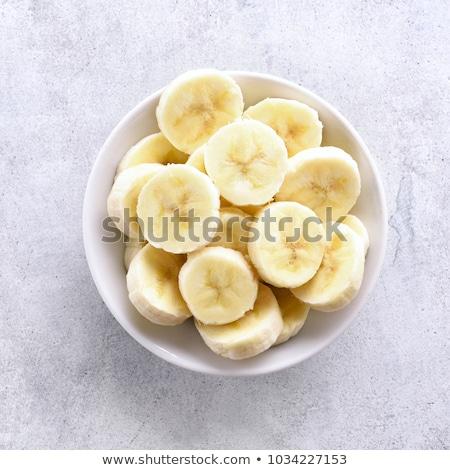 banane · bianco · piatto · primo · piano - foto d'archivio © borissos