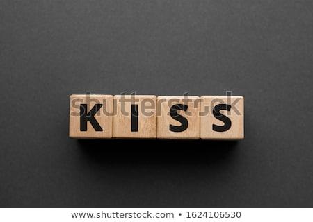 キス · 頭字語 · 書かれた · カラフル · チョーク · 黒板 - ストックフォト © bbbar