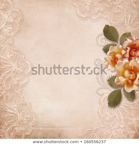 Retro üdvözlőlap régi fotó keret háttér művészet Stock fotó © inxti