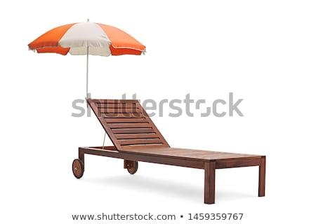 parasols  and lounge chairs at the pool Stock photo © njaj
