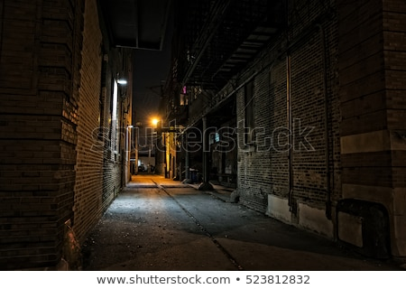 Scary Dark Alleyway at Night Stock photo © bobbigmac