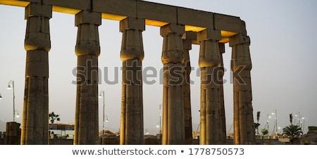 illuminated Luxor Temple detail Stock photo © prill