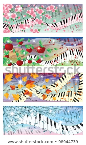 Symphony of four season banners, vector illustration Stock photo © carodi