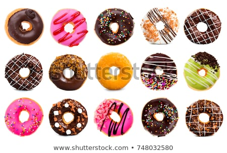 donuts with icing sugar and festive decoration Stock photo © M-studio
