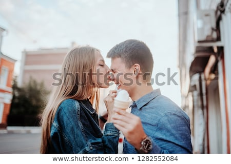 Couple enjoying an ice cream on a lovely day Stock photo © photography33
