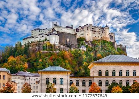 hohensalzburg fortress in salzburg austria hohensalzburg fortress in salzburg austria stock photo © ionia