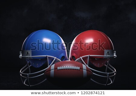 Two sport Helmets and field for American Football  Stock photo © Winner