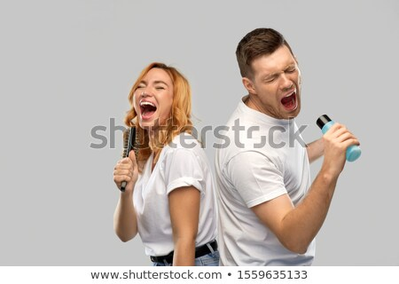 portrait of young couple singing stock photo © photography33