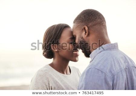 魅力的な · アフリカ · カップル · 肖像 - ストックフォト © stockyimages