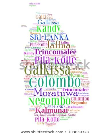 Oude groene kaart Sri Lanka papier Stockfoto © speedfighter