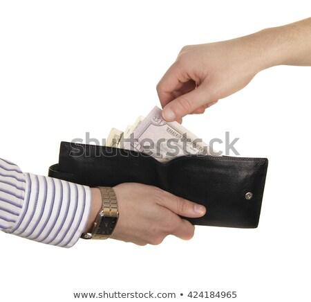 hombre · proyecto · de · ley · dólares · efectivo · cartera - foto stock © shutswis