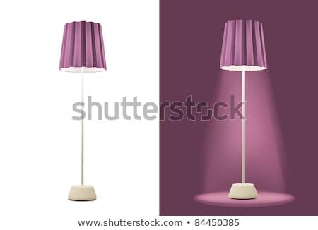 Nice étage lampe lumière verre Photo stock © ozaiachin
