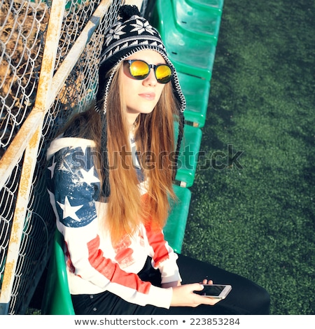 Woman dressed for cold weather Stock photo © photography33