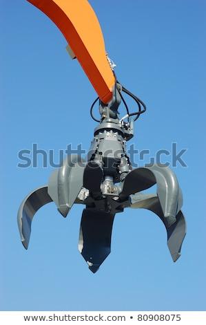 sloop · huis · oranje · bomen · machines · vernietiging - stockfoto © sumners