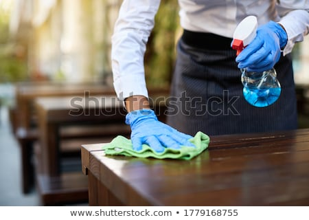 Waitress Cleaning Up stock photo © lisafx