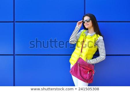 Lovely young fashion model female in modern dress Stock photo © gromovataya