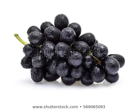 fekete · szőlő · érett · kész · aratás · gyümölcs - stock fotó © serge001