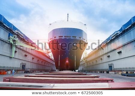 Wyschnięcia dok Sztokholm Szwecja działalności wody Zdjęcia stock © maisicon