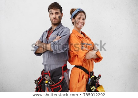 Female carpenters rejoicing Stock photo © photography33