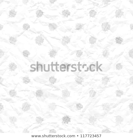 seamless crumpled paper texture with polka dots stock photo © kostins