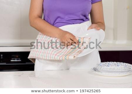 женщину блюдо кухне домой красоту Сток-фото © wavebreak_media