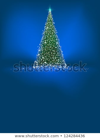 abstrato · verde · árvore · de · natal · azul · eps · vetor - foto stock © beholdereye