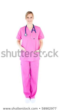 Pozitív fiatal női sebész visel cserjék Stock fotó © wavebreak_media