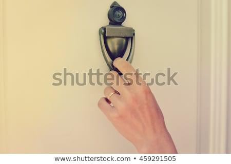 Opportunity Knocks Door Knocker Stock photo © albund
