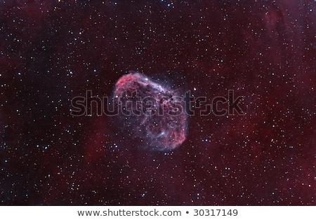 hilâl · nebula · güneş · ışık · mavi · kırmızı - stok fotoğraf © rwittich