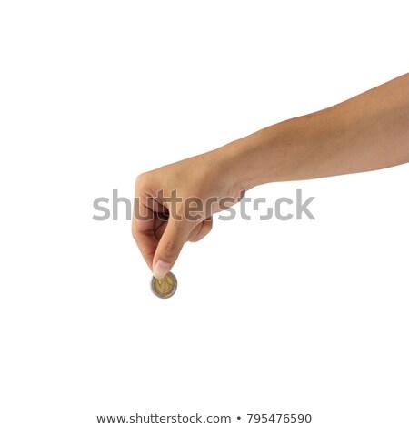 hand putting coins stock photo © grazvydas