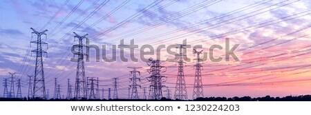 Macht zonsondergang elektrische landelijk licht Stockfoto © Gordo25