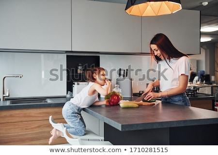 Vruchten groenten goed moderne keuken groot Stockfoto © tannjuska