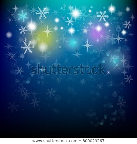 Noel · rüya · kar · taneleri · kız · render - stok fotoğraf © dolgachov