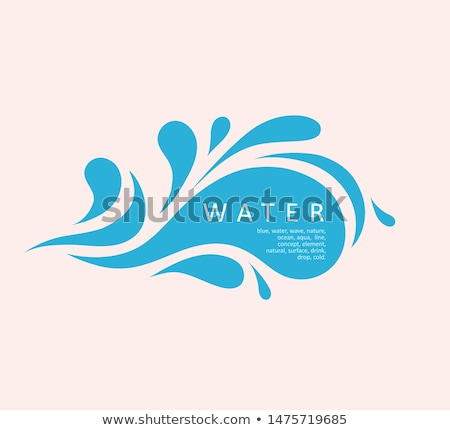 Absztrakt logo virág üveg felirat hálózat Stock fotó © butenkow