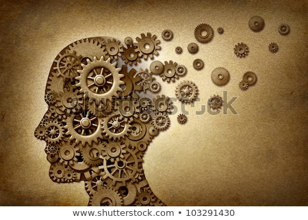 Human brain function grunge with gears Stock photo © Lightsource