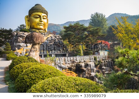 temple by lake and forest seoul south korea Stock photo © travelphotography