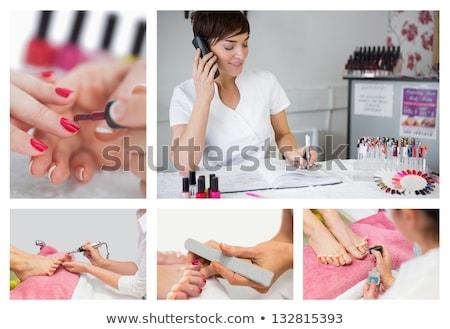 ногтя техник палец ногти Сток-фото © wavebreak_media