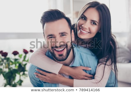 close up photo of attractive young couple stock photo © konradbak