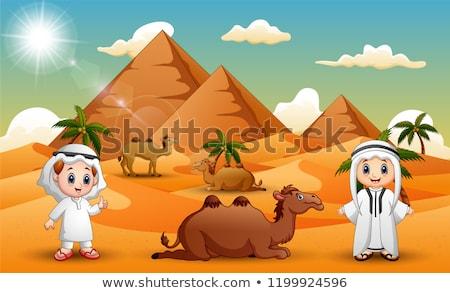 Desert safari  background Stock photo © dmitry_rukhlenko
