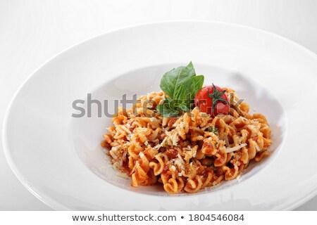 közelkép · spagetti · étel · vacsora · tészta · gabonapehely - stock fotó © julietphotography