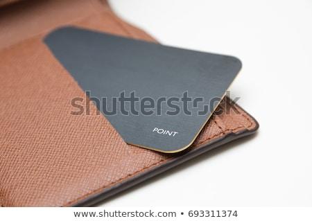 pénztárca · érmék · izolált · fehér · bank · bőr - stock fotó © kheat