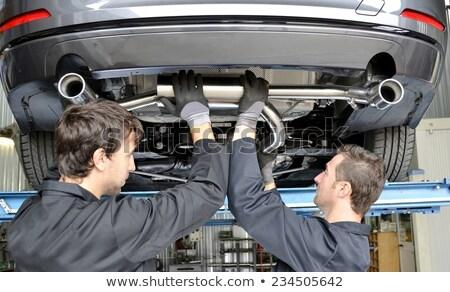 Repairing exhaust pipe Stock photo © stoonn