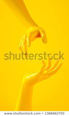 yellow hand stock photo © Nelosa