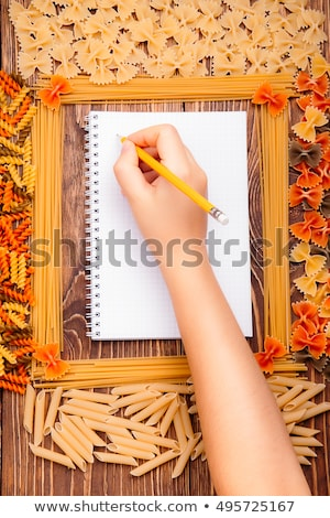 Rotini and open book Stock photo © stevanovicigor